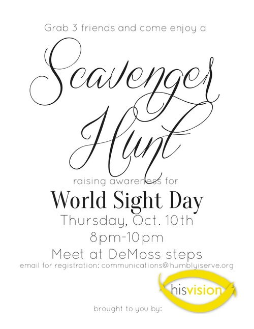 The Scavenger Hunt is Approaching!